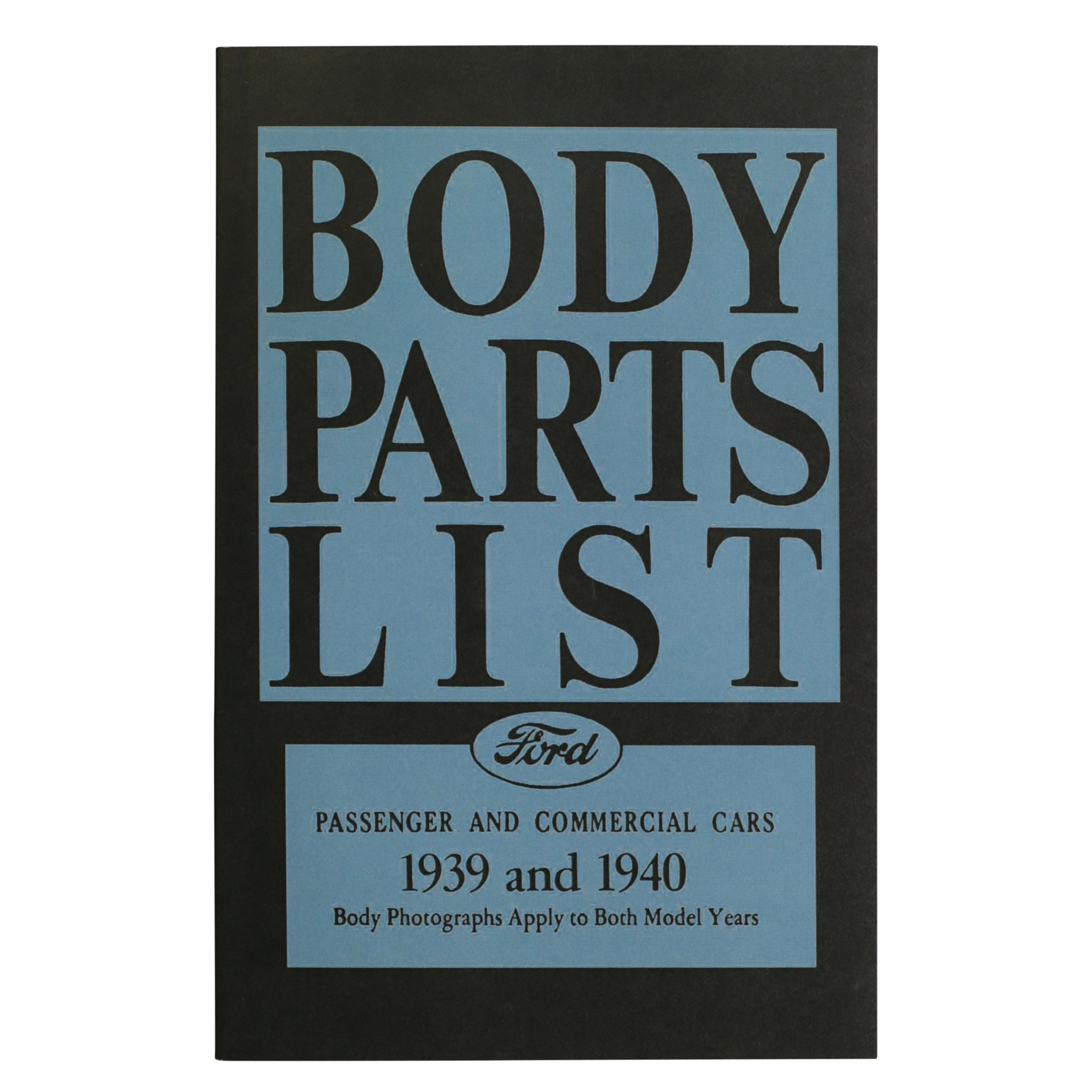 Ford Body Parts List • 1938-40 Ford