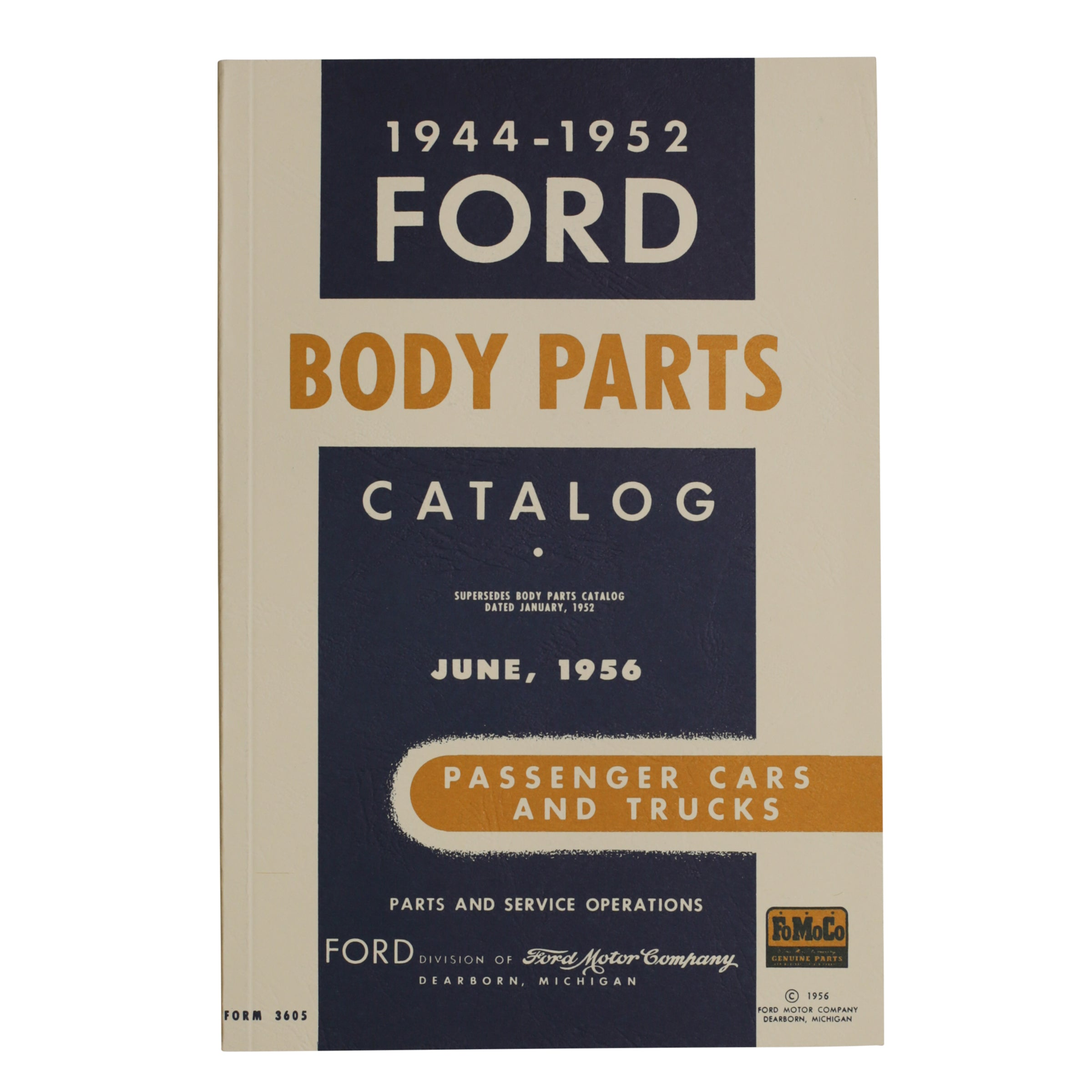Ford Body Parts List • 1944-52 Ford