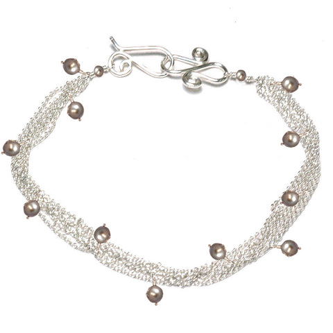 Strands Bracelet with Stone Accents