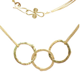 Hammered Circlet Chain Necklace