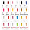 Chart of Sassi Nail Tip Colors Included in Color Nail Tip Display Rack