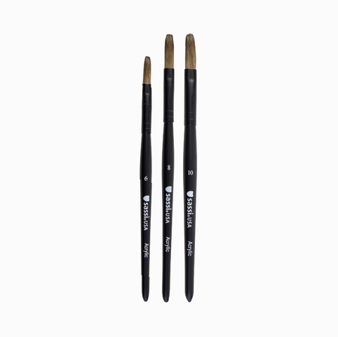 Acrylic Brush Set (3pcs)