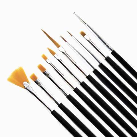 Nail Art Brush Set (10pcs)