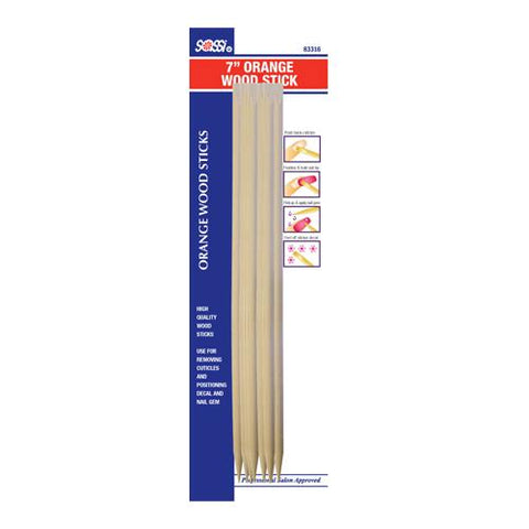 "7"" Orange Wood Stick (10Pcs)"