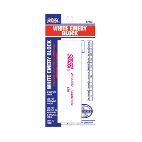 [BLISTER ITEM] White Emery Block 120/180/180