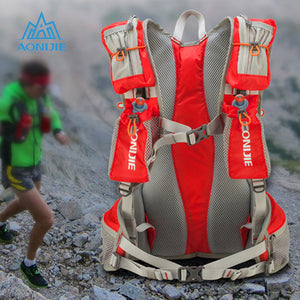 AONIJIE 12L Running Nylon Backpack Outdoor Lightweight Hydration Water Pack with 2L Water Bag