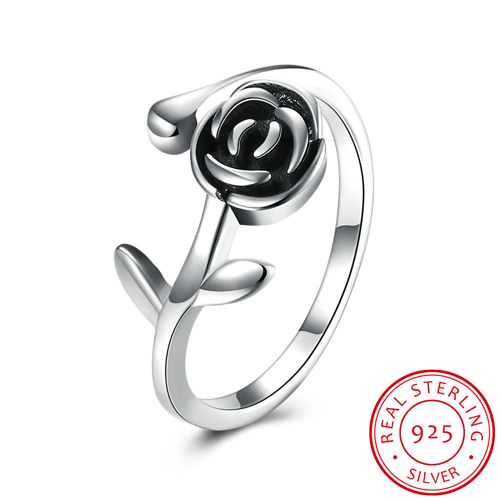 925 Sterling Silver Ring Ring rose ring woman