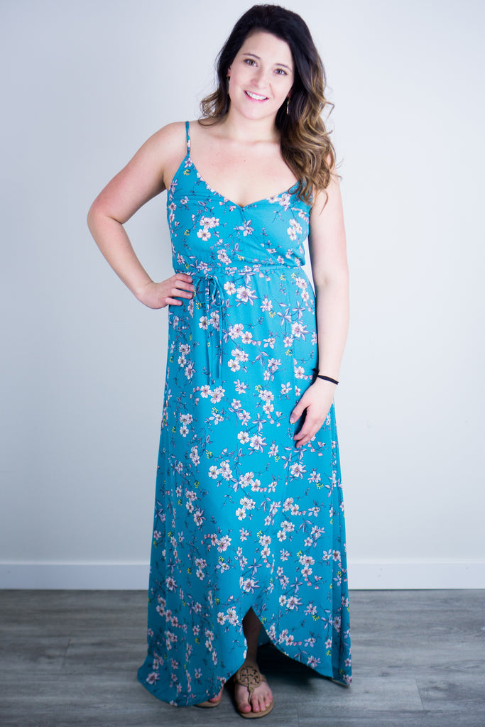 BB Dakota Cherry Blossom Girl Maxi Dress