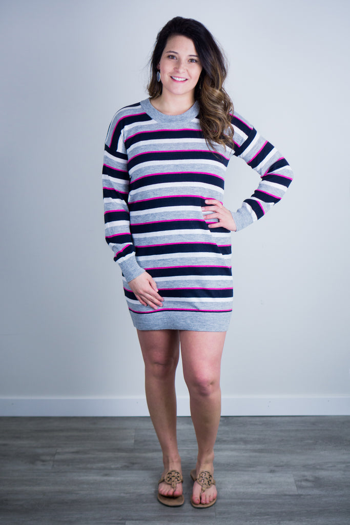 BB Dakota Line By Line Sweater Dress