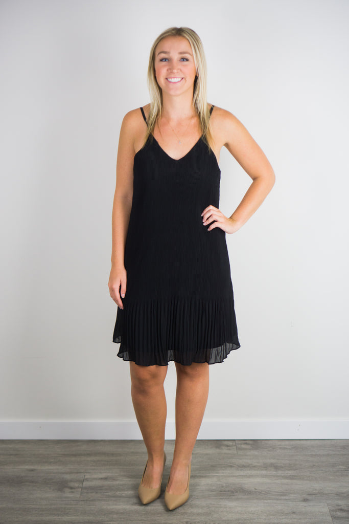 Forever To Go Pleated Cami Dress
