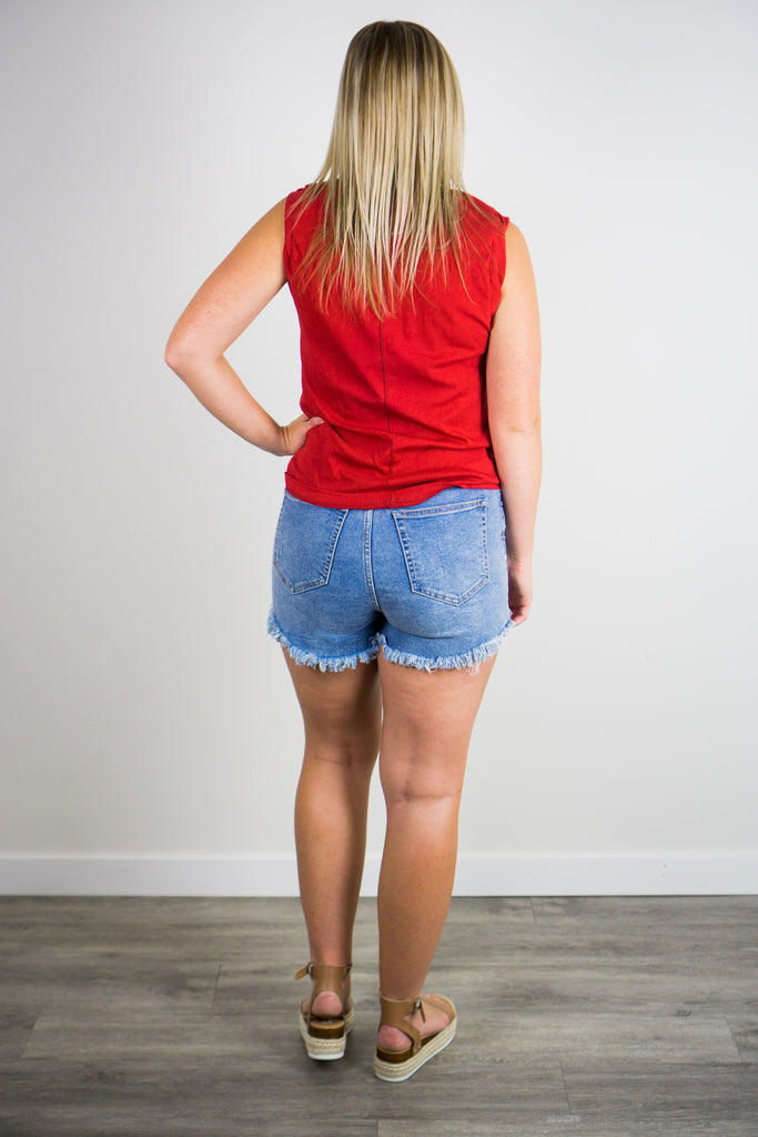 Free People Curvy Vintage High Rise Short