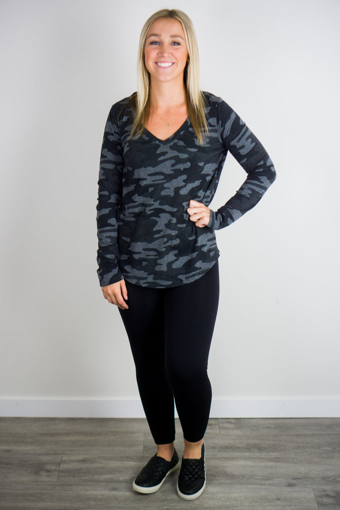 Z Supply Kinney Camo LS Top