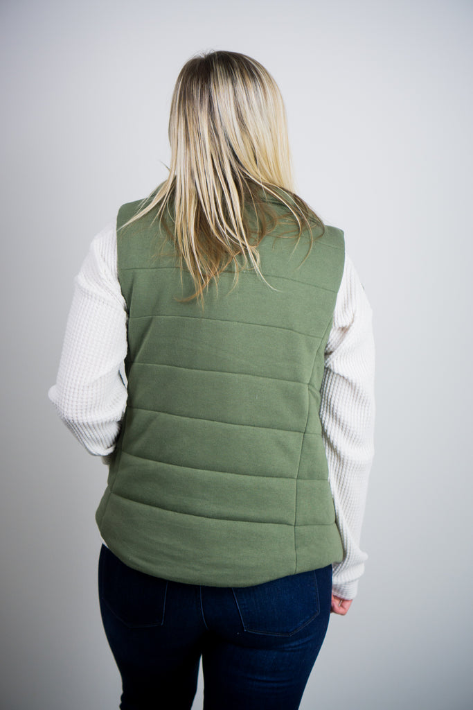 Snap Button Puff Vest