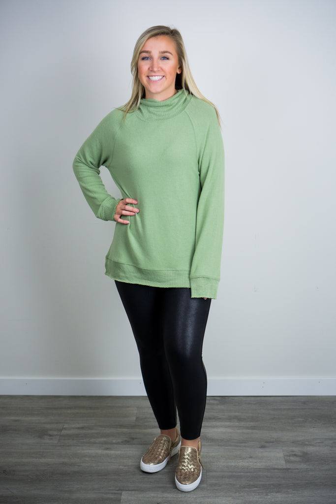 Z Supply Soft-Spun Mock Neck Pullover