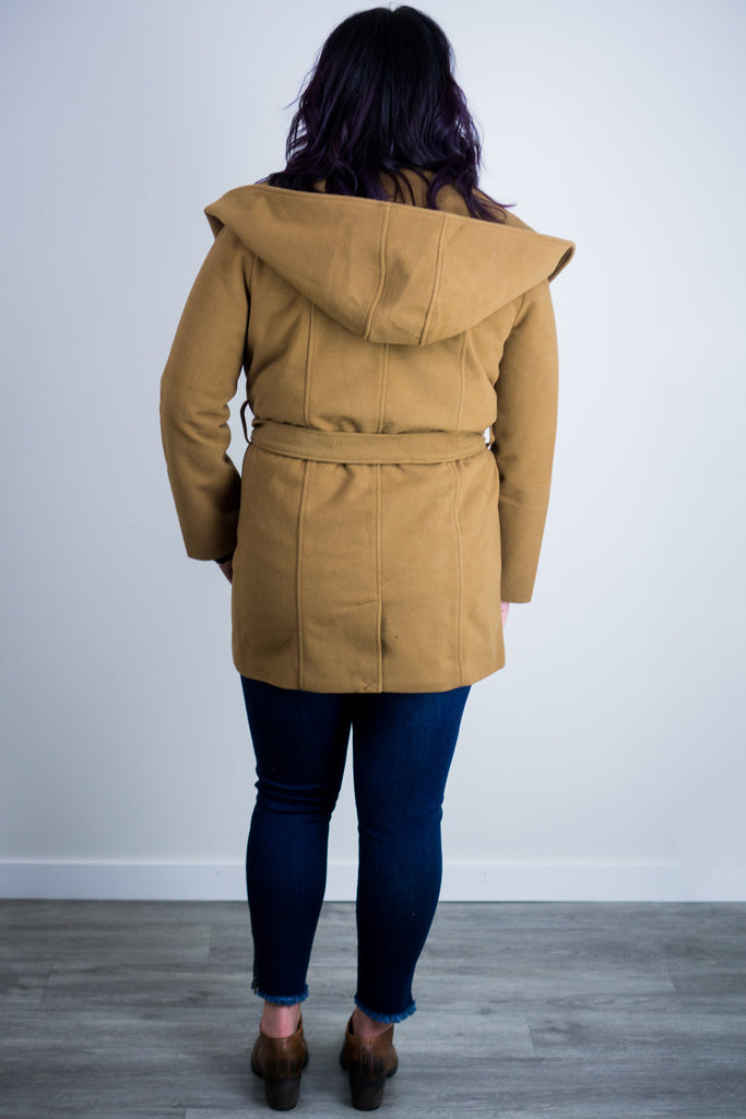 Take Cover Camel Coat