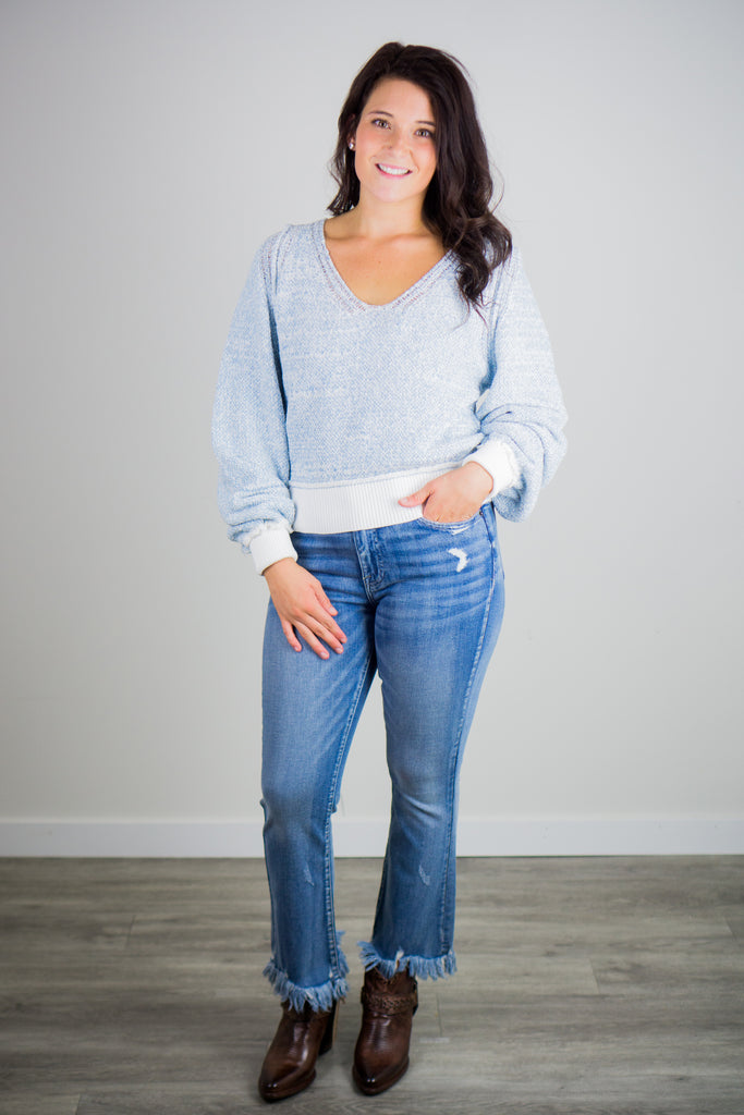 Free People Riptide V Neck Sweater