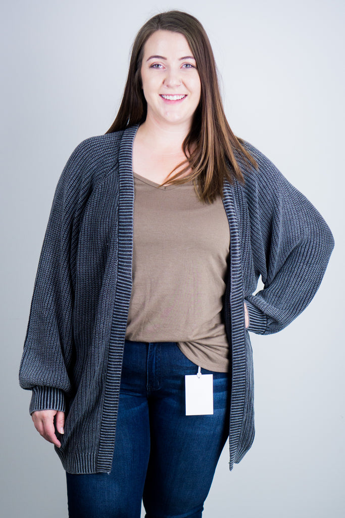 Shay Bubble Sleeve Cardi