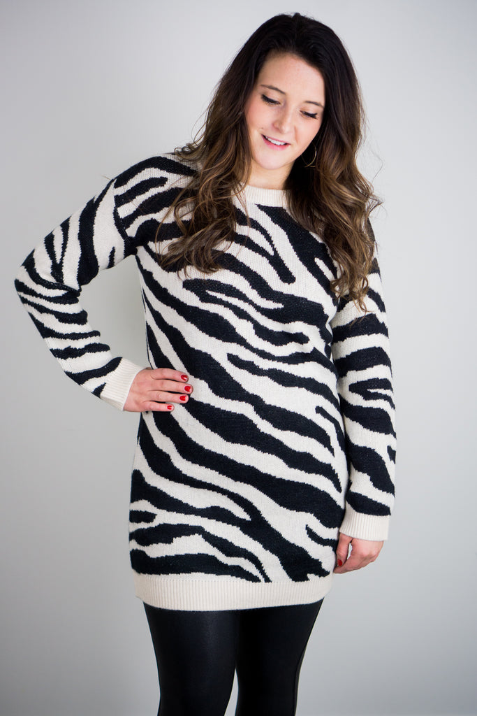 BB Dakota Life Is Wild Vanilla Sweater Dress