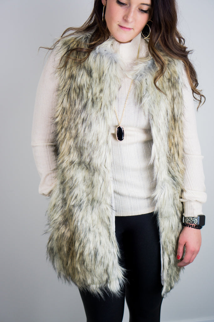 BB Dakota Fur-ther Ado Faux Vest