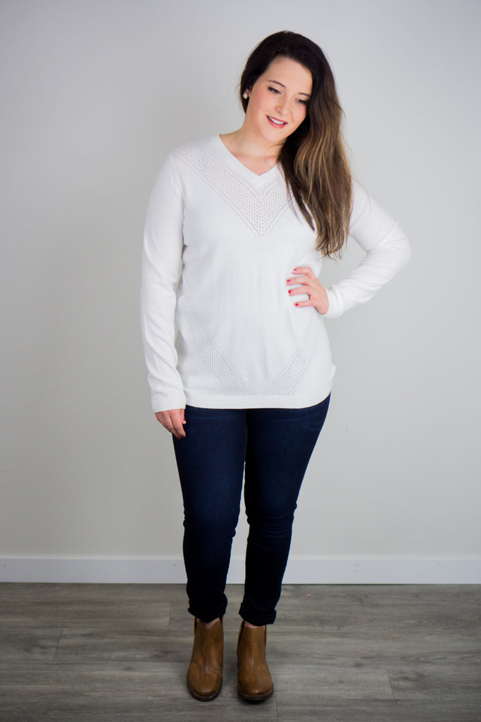 Ampersand Ave Quinn Ivory Sweater