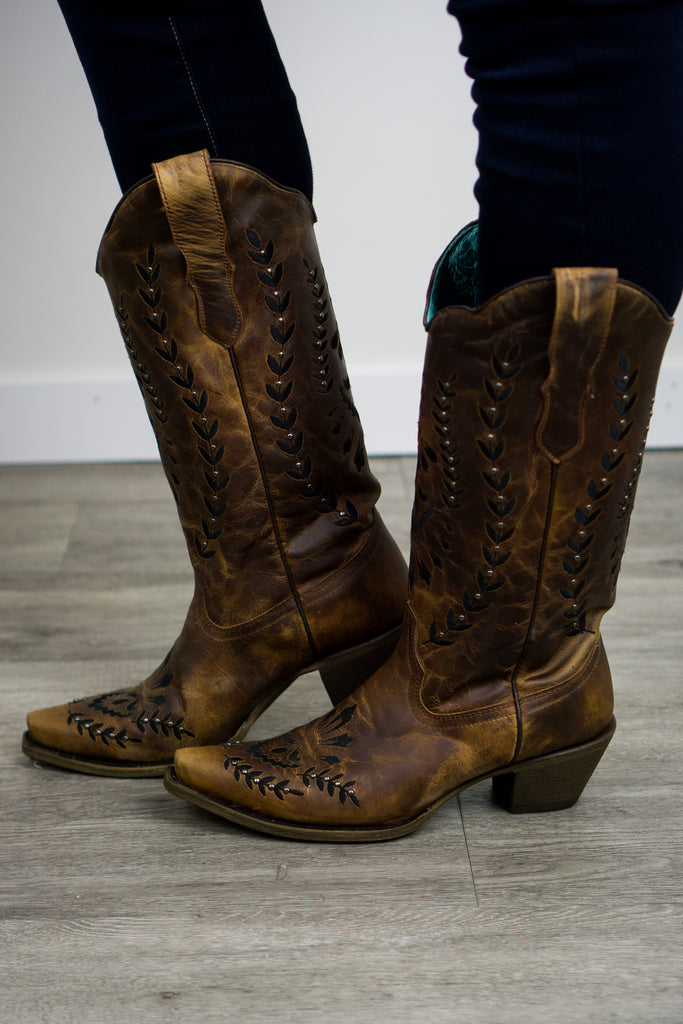 Corral E1443 Honey Boot