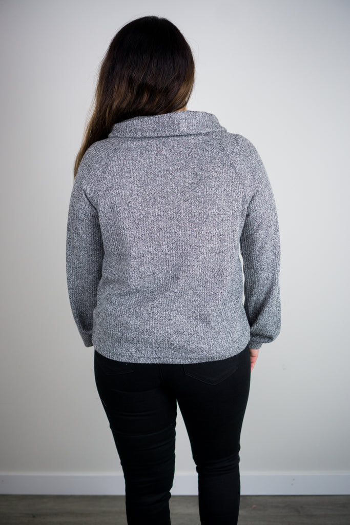 Z Supply Waffle Thermal Cowl Neck Top