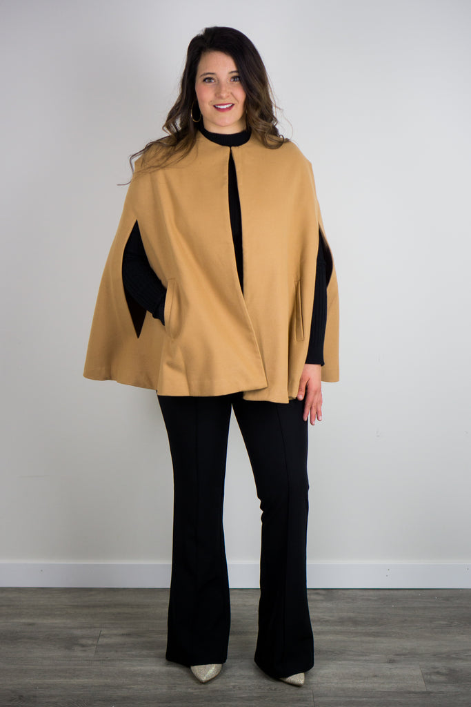 The Woven Cape Jacket