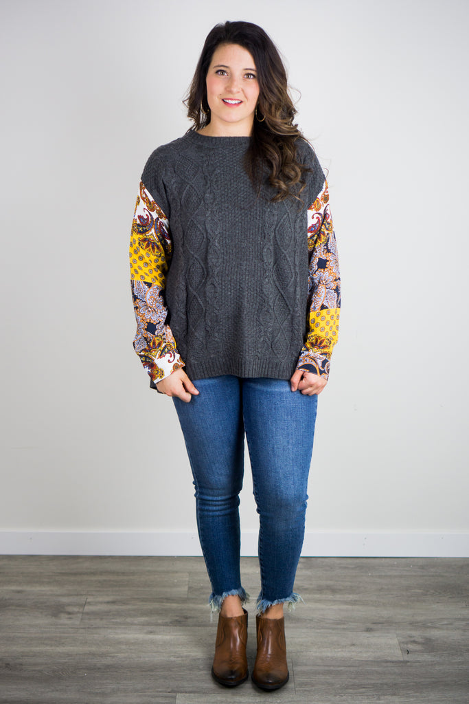 Pop Of Paisley Sweater