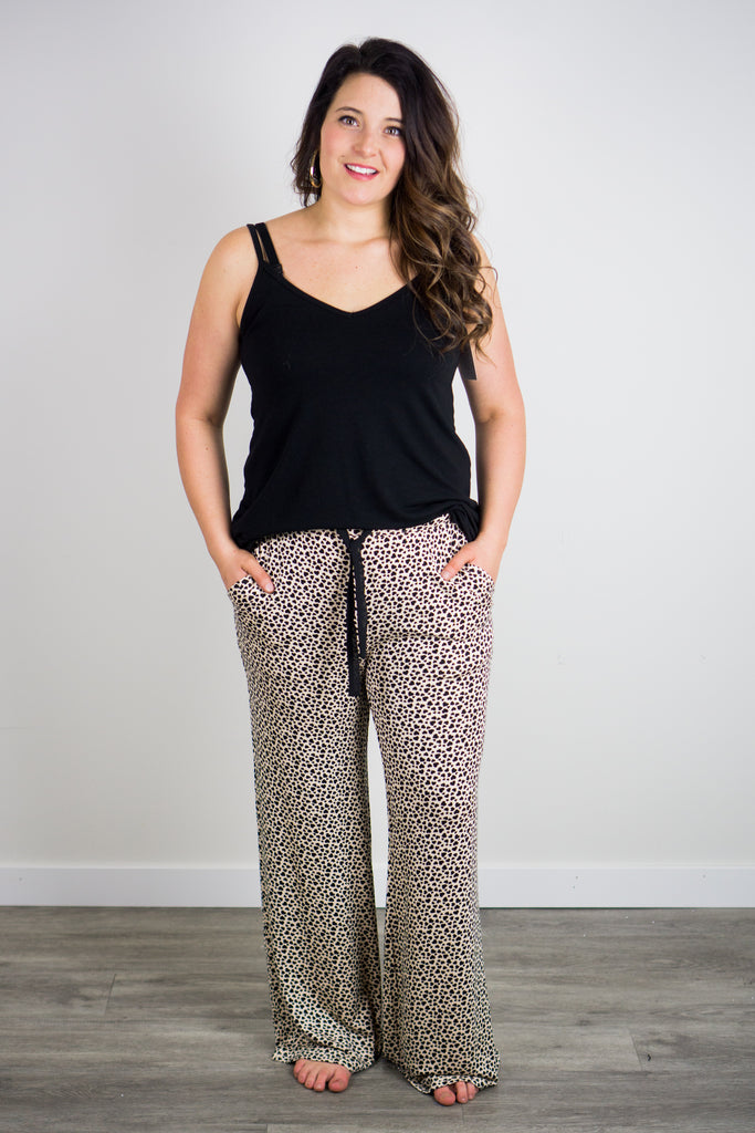 Z Supply Mini Heart Wideleg Pant