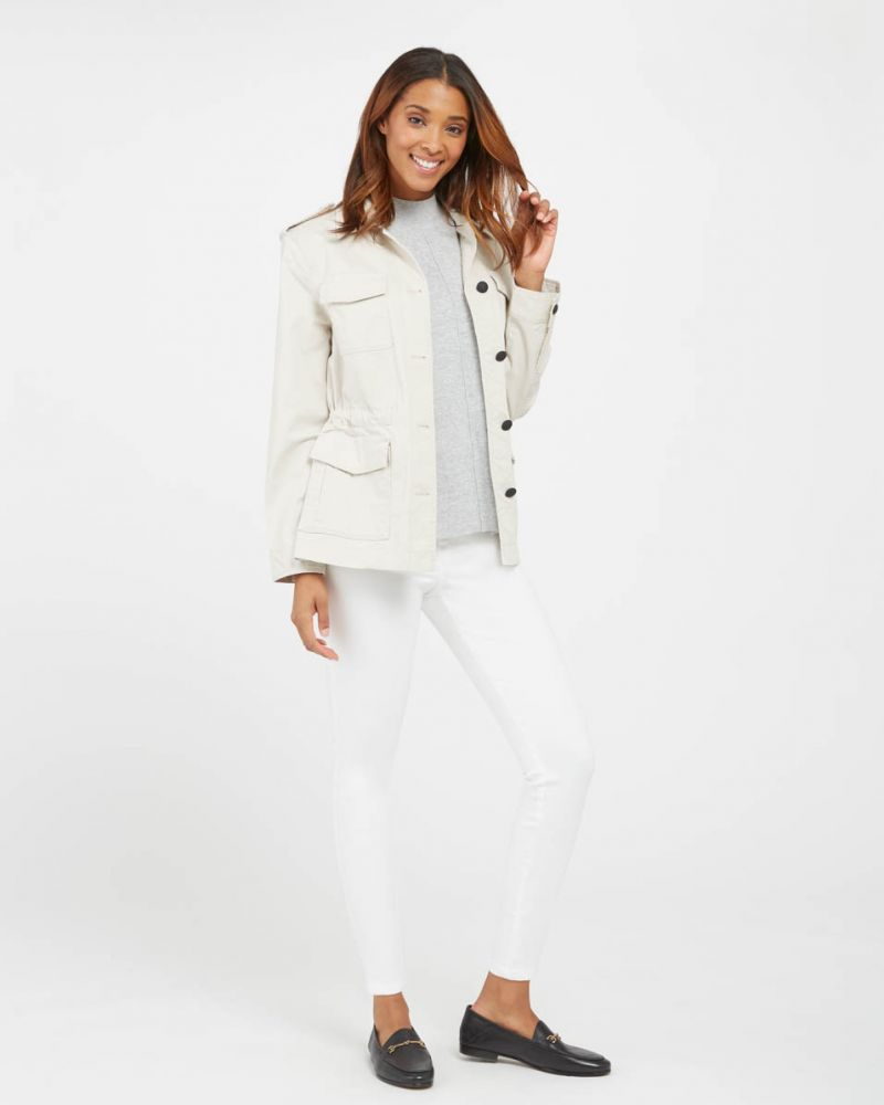 Spanx White Ankle Skinny Jeans
