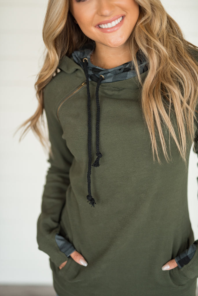 Ampersand Ave Evergreen Buffalo Sweatshirt