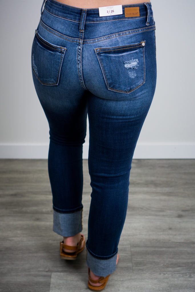 Judy Blue Roll Cuffed Jean