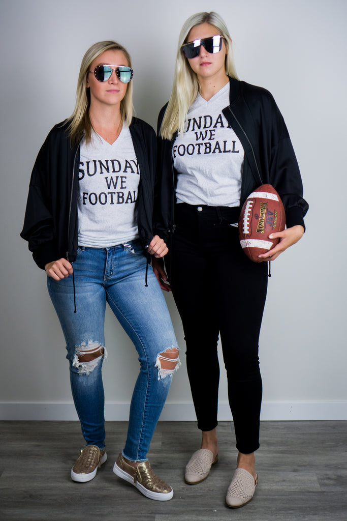 Sundays We Football Tee