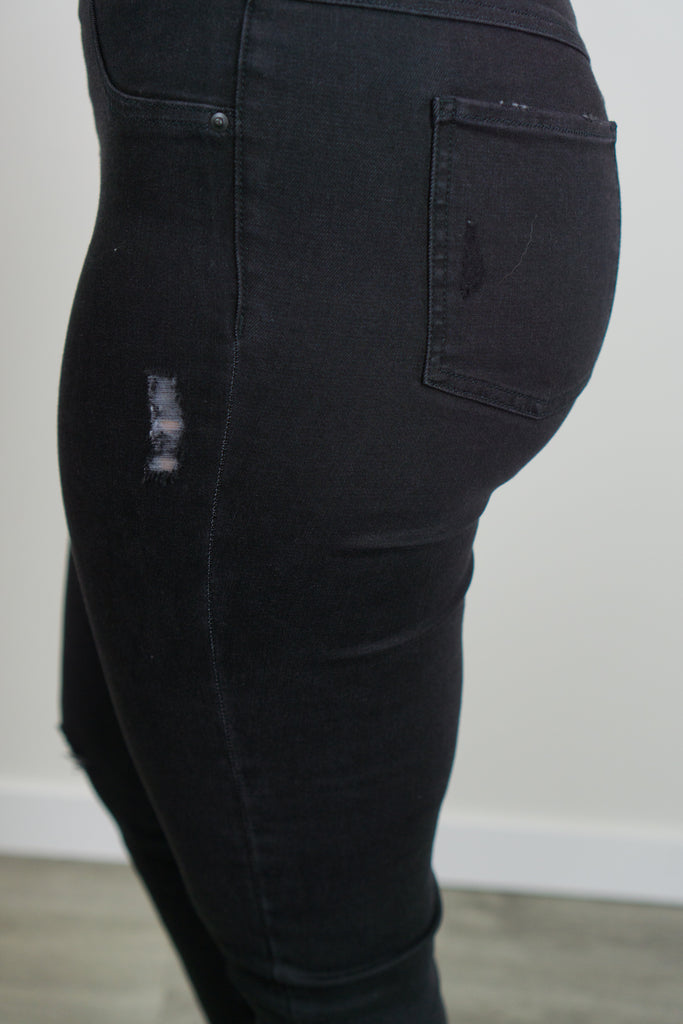 Spanx Distressed Skinny Jean/Vintage Black
