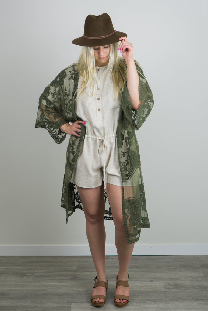 Golden Cathedral Lace Duster