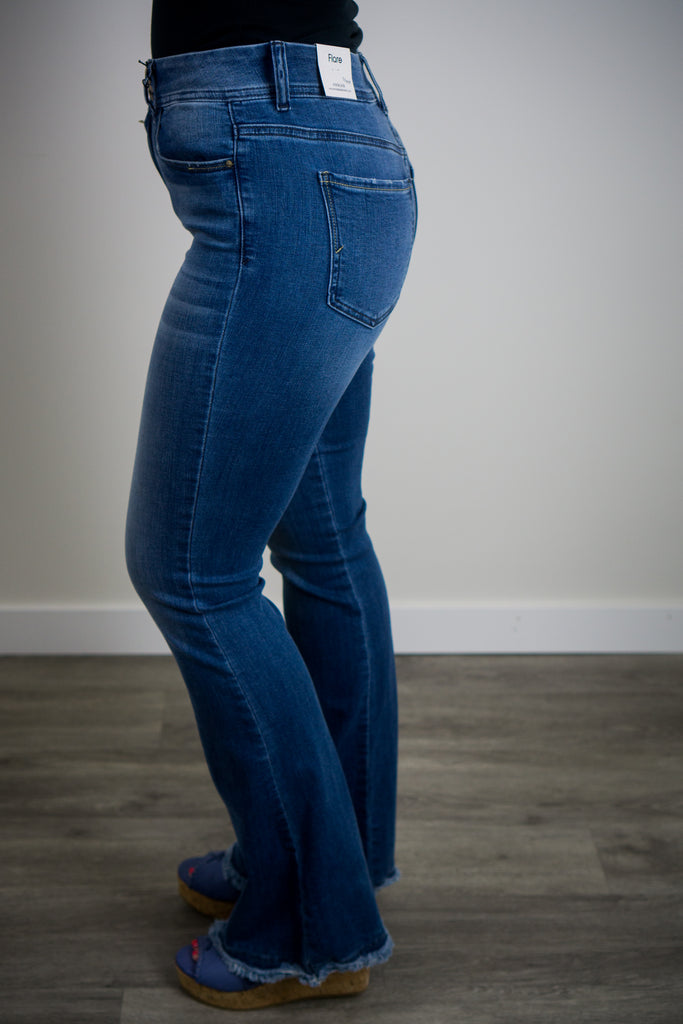 Two Button Flare Jeans