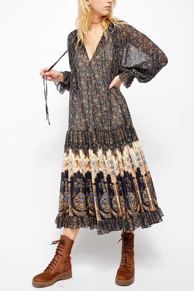 Free People Feeling Groovy Border Print Maxi Dress