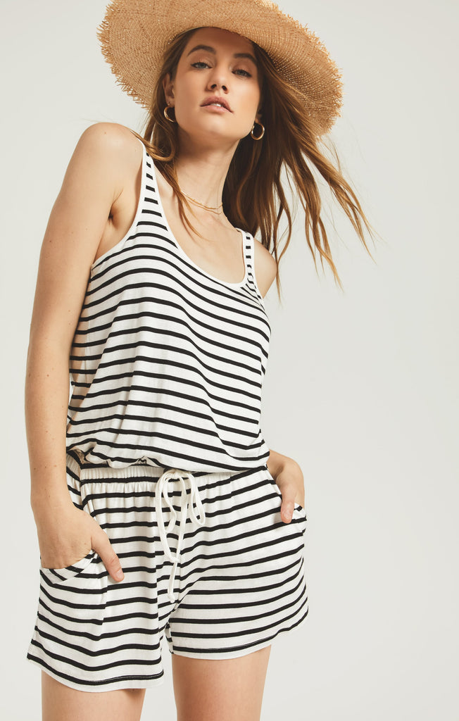 Z Supply Azure Stripe Romper