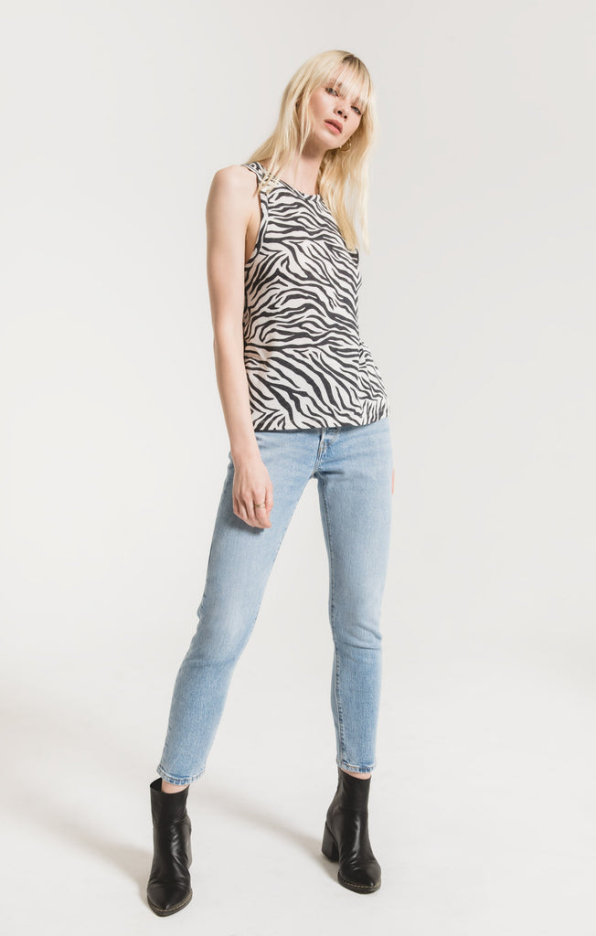 Z Supply Zebra Racer Tank