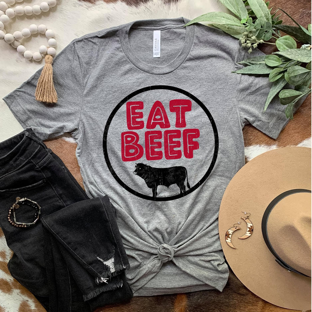 Eat Beef Graphic T Shirt