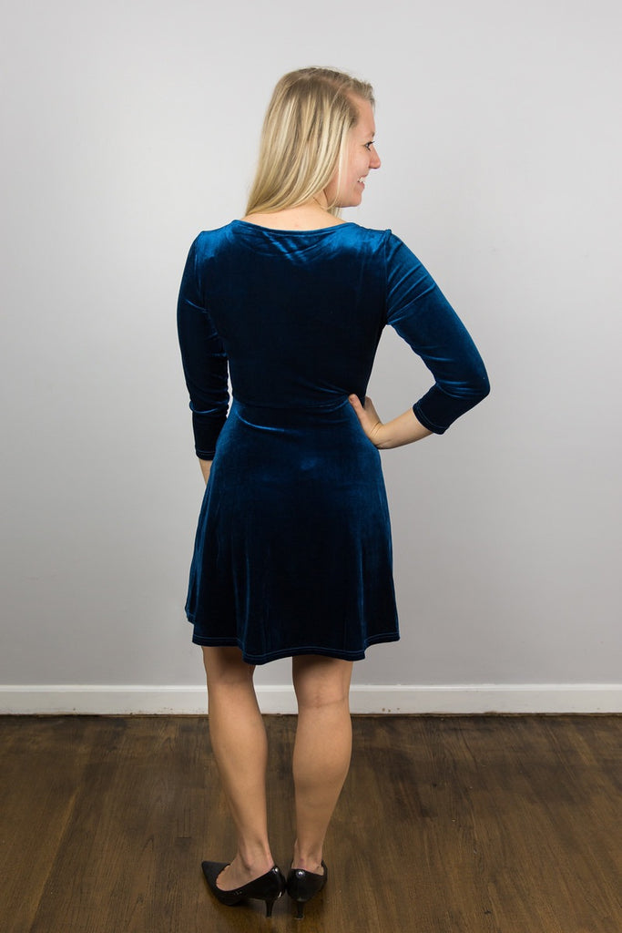 Royal Velvet Empire Dress