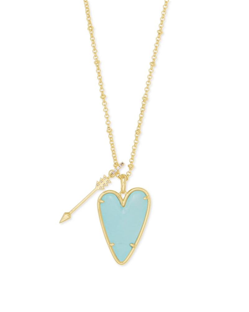 Kendra Scott Ansley Heart Gold Long Pendant Necklace