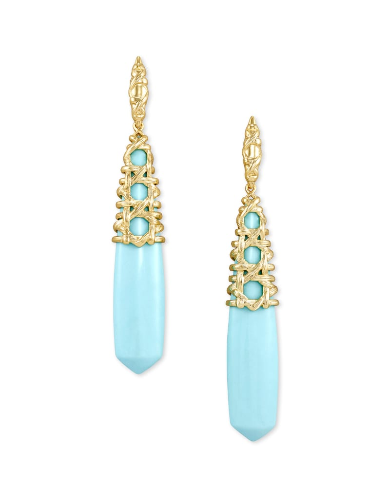 Kendra Scott Natalie Gold Linear Earrings
