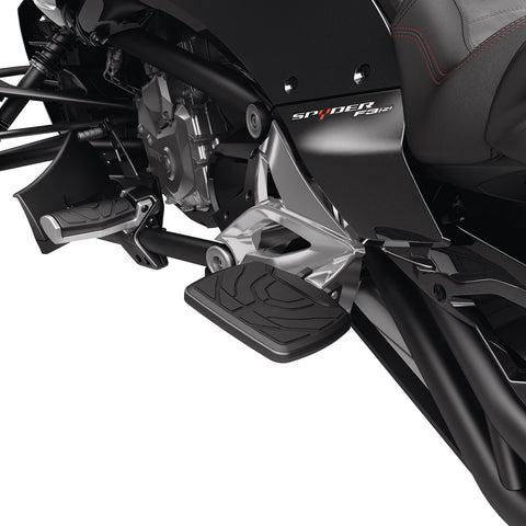 Passenger Footboards for All Spyder F3 models CARBON BLACK