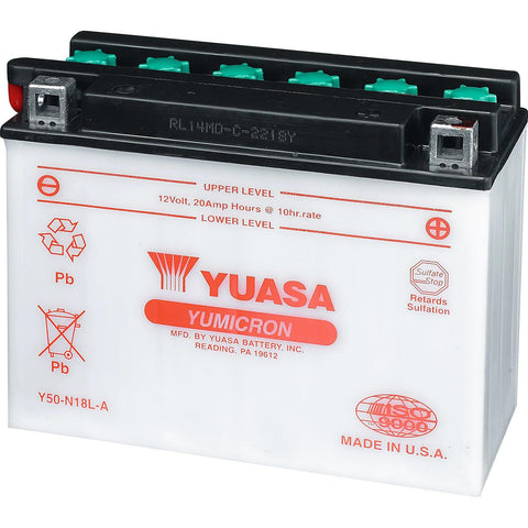 Yuasa† Battery - 13 Amps. Wet (YTX15L-BS) for DS (250, 90, 70, 50)