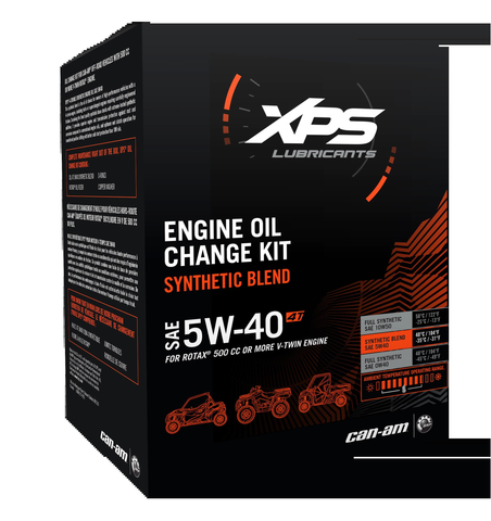 4T 5W-40 Synthetic Blend Oil Change Kit for Rotax 500 cc or more V-Twin engine