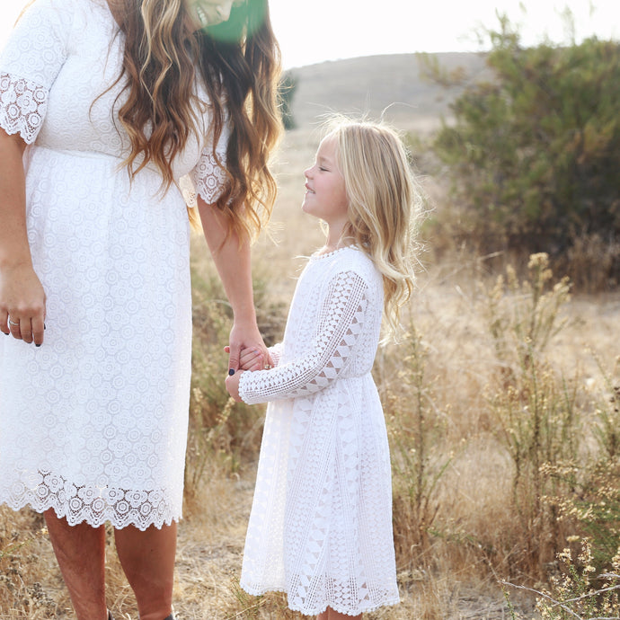Little Girl || Long Sleeve Lace Dress