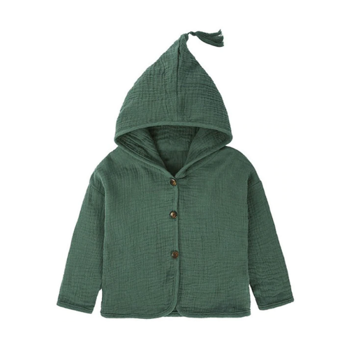 Button Jacket in Green