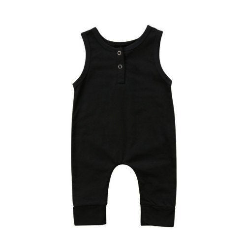 Sleeveless Romper in Black