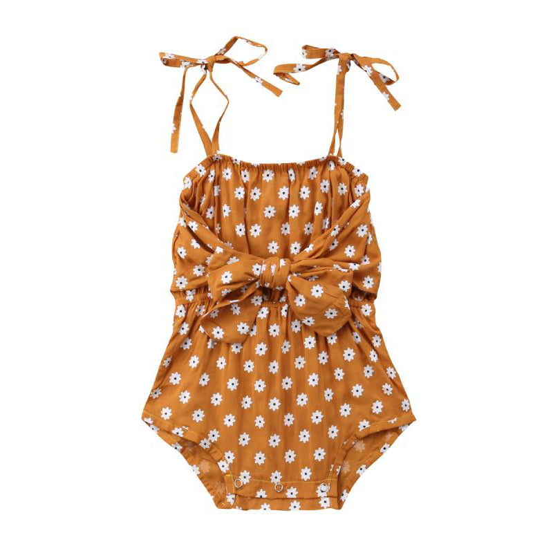 Daisy Romper in Orange
